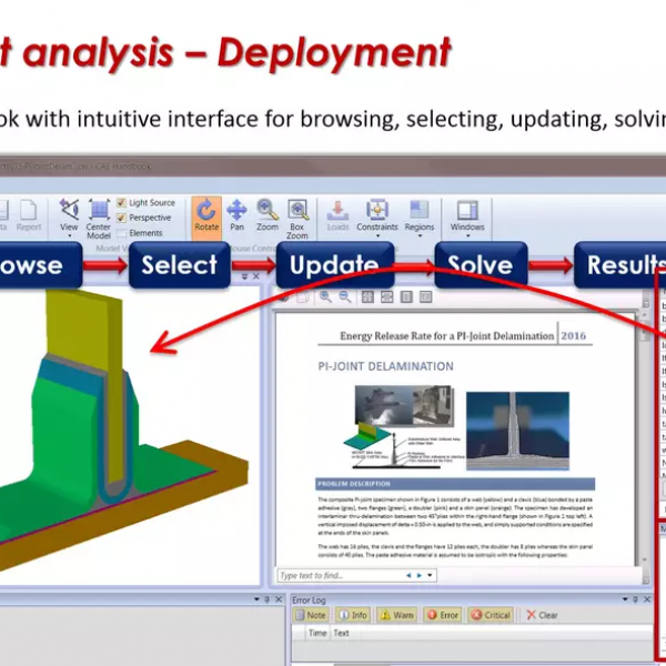Smart Sim Apps Demo: Laminated Composite Joint Analysis | ESRD