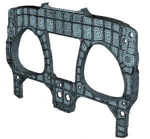 Airframe Component Solid Mesh